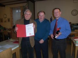 Jahreshauptversammlung 2010 - Jubilar Günter J. Hein