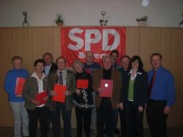 Jahreshauptversammlung 2010 - Die Jubilare
