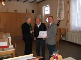 Jahreshauptversammlung 2011 - Jubilar Fritz Plorin