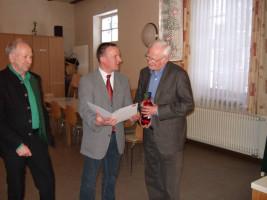 Jahreshauptversammlung 2011 - Jubilar Walter Bernhardt
